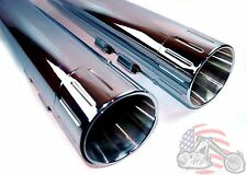 "4.5"" Chrome Ball Mill Tip Slip on Muffler Exhaust Pipes Harley Touring Bagger FL"