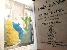 Les Après-dinées de ma marraine, contes dédiés à l'enfance. 1825, illustrés