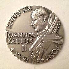 Medaglia annuale in argento Giovanni Paolo II - Anno XX - Pont Max