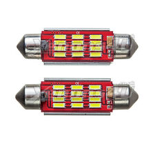 2x 36mm Number License Plate 12 SMD LED Xenon White 6000K Festoon Light Bulbs