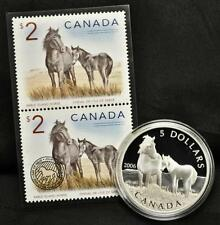 2006 Canada $5 Sable Island Horse & Foal - Coin and Stamp Set
