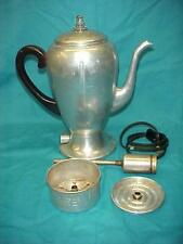Vintage Aluminum Mirro-Matic 8-Cup Electric Percolator Coffe Pot