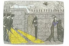 "EDWARD GOREY ""ILLUSTRATION FOR MYSTERY"" LARGE 10""x15"" Wall Art Poster Book Page"
