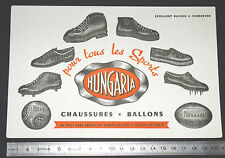 BUVARD 1950 HUNGARIA ORANGE CHAUSSURES BALLONS RUGBY FOOTBALL SPORTS SCAPHANDRE