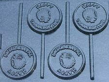 HAPPY THANKSGIVING TURKEY ROUND LOLLIPOP CHOCOLATE CANDY MOLD MOLDS PARTY