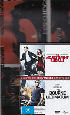 THE ADJUSTMENT BUREAU + BOURNE ULTIMATUM  DOUBLE DVD (MATT DAMON) REGIONS 2,4
