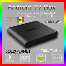 T95X Amlogic S905 2GB 16GB Android 6.0 Marshmallow KODI TV BOX 4K IPTV Decoder