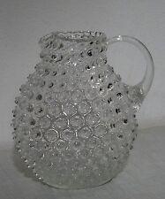 Antiker Noppenglas Glas Krug gr. mundgebl. Warzenglas Kanne Glaskrug Art Deco