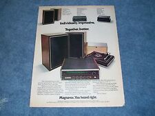 "1973 Vintage Magnavox 1810 Stereo System Ad ""Individually, Impressive"""