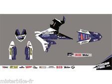 Kit déco CROSS FIRE bleu KUTVEK pour kit restylé UFO Yamaha YZ125/250