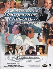 JAMES BOND DANGEROUS LIAISONS MASTER SET AUTOGRAPHS RARE INSERTS CASE INCENTIVES