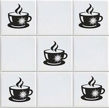 COFFEE CUP X 15 VINYL TILE TRANSFERS STICKER DECAL FOR KITCHEN (vd11)
