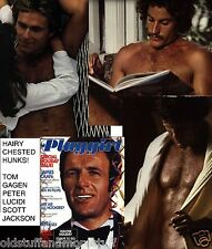 PLAYGIRL 1-77 JAMES CAAN MATADOR NUDE HAIRY PETER TOM GAGEN JANUARY 1977
