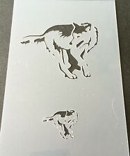 WOLF Mylar Reusable Stencil Airbrush Painting Art Craft DIY home Decor