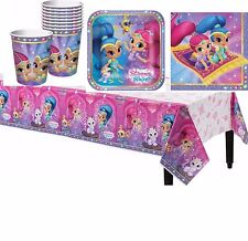 33pc Shimmer and Shine Girls Birthday Party Pack~Cups,Plates,Napkins &TableCover