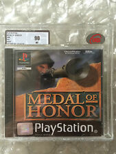 FACTORY SEALED MEDAL OF HONOR ORIGINAL RELEASE PLAYSTATION 1 UKG/ VGA GRADED 90