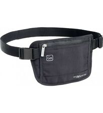 DesignGo RFID Blocking Waist Stash Passport Money Belt Travel Pouch 675 Black