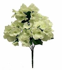 5 x Hydrangea Stems ~ IVORY CREAM ~ Silk Wedding Flowers Bouquets Centerpieces