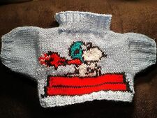 BN HAND KNITTED SNOOPY RED BARON FLYING ACE JUMPER TO FIT BUILD A BEAR