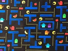 RPE48A Pacman PAC-man Arcade Video Game Vintage Quilt Cotton Quilting Fabric