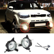 Genuine Parts Front Fog Light Lamp Assembly Conector LH+RH For KIA 2014-17 Soul