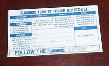 The Force  Schedule Scoccer  1986-87
