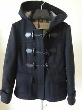 Burberry Brit Blackwell Wool Duffle Short Coat Black US 2 NWT