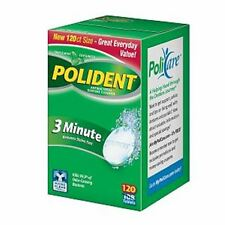 Polident 3 Minute, Antibacterial Denture Cleanser 120 ea (Pack of 5)
