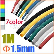 1m 1.5mm 7 Mix-Color 2:1 Polyolefin Heat Shrink Tubing Tube Sleeve Sleeving Wrap