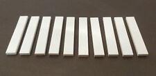 LEGO 10 x Fliesen 1x6 weiß | white slab 6636