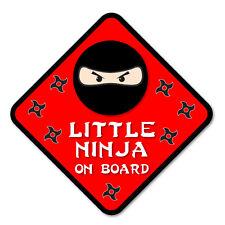 Little ninja à bord drôle nouveauté voiture, van vinyle autocollant decal