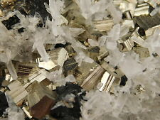 A HUGE Crystal Cluster with TONS of PYRITE CUBEs & Quartz Crystals! Peru 745gr e