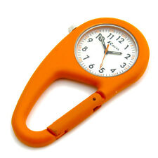 Ravel Clip-On Carabiner Watch Hiking Camping Handbag Charm Orange R1105.08