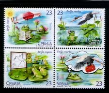 SERBIA Animated Frogs & Birds MNH set