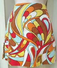 Mod  Disco   Hippie Skirt size 2 ANOSEFORCLOTHES multi color  Mod  psychedelic