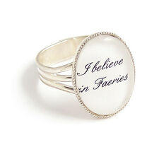 I believe in FAERIES fairy fairytale adjustable ring whimsical peter pan charm