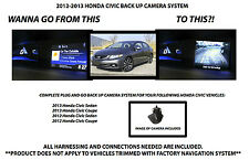 2012-2014 HONDA CIVIC BACK UP CAMERA SYSTEM REAR VIEW CAMERA KIT INC. HARNESS