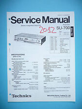Manual de servicio para Technics su-700, original