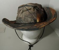 Camo Fedora Hat Fishing Hunting Safari Fall Realtree Hardwood Hat Cap Mens NWOT