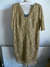 Autograph Lined V-Neck Short Sleeve Lace Dress, Back Zip, Size 18, M&S, BNWT £79