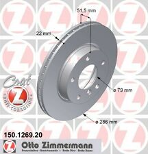 BMW E36 3 SERIES PAIR OF ZIMMERMANN FRONT BRAKE DISCS (34111162282)
