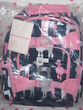 New Pottery Barn Kids Small Navy Poodle Backpack + Pencil Case Last One!