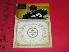 NATIONAL TREASURES 2011 John FUQUA #168 Gold/10 Pittsburgh STEELERS - Immaculate