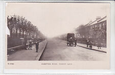 POSTCARD HAMPTON ROAD, FOREST GATE, LONDON HOUSE TO LET OR BE SOLD. HORSE & CART
