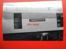 PHOTO  NAMEPLATE - CAPABILITY BROWN ON CLASS 60 LOCO NO 60002