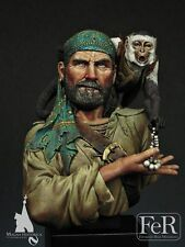 FeR Rogue Pirate with Monkey 1670 1/12th bust Unpainted resin kit