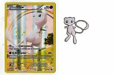 Mew Pokemon Mythical Collection Promo XY110 +  Matching Mint Mew Pin 20th Annive