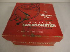 Vintage Western Flyer Bicycle Speedometer with Cable Drive in Box  (h1)