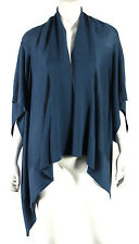 MICHAEL KORS COLLECTION Teal Cashmere Kimono Sleeve Cardigan Sweater S