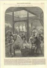 1870 Arrival Of Early Meat Train Smithfield Market From Aylesbury And Frome